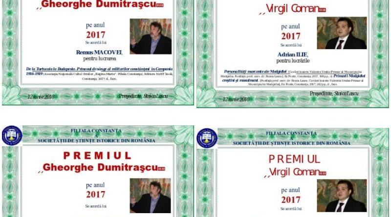 premiul gheorghe dumitrascu premiul virgil coman