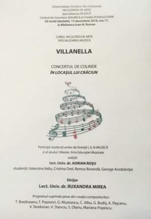 afis concert corul villanella