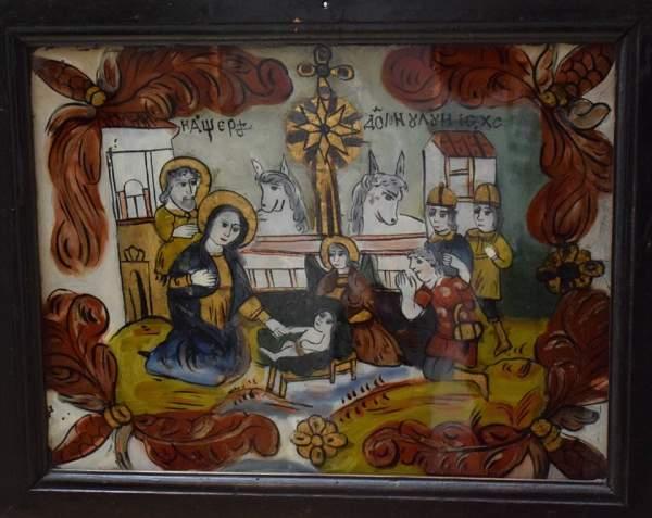 icoana pe sticla nasterea domnului muzeul de arta populara constanta