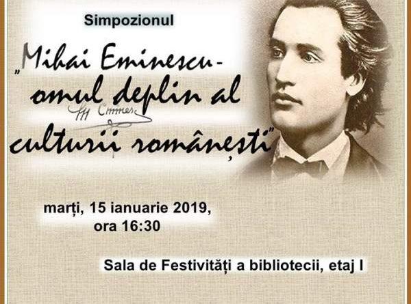 Mihai Eminescu - omul deplin al culturii romanesti simpozion tulcea
