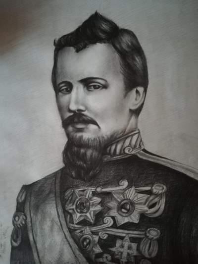 alexandru ioan cuza desen de Maria Hodor