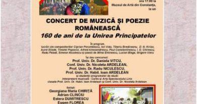 concert de muzica si poezie romaneasca 160 ani unirea principatelor