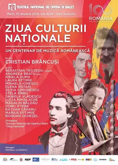 un centenar de muzica romaneasca teatrul oleg danovski afis
