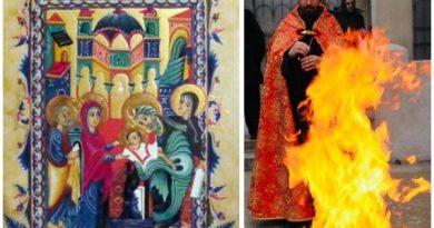intampinarea domnului foc armeni