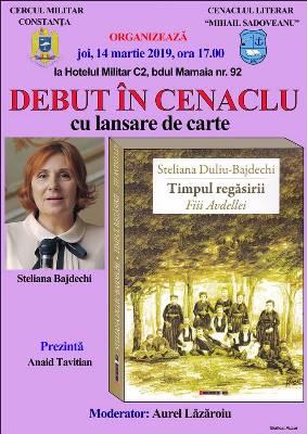 Steliana Bajdechi debut Cenaclul Literar Mihail Sadoveanu afis