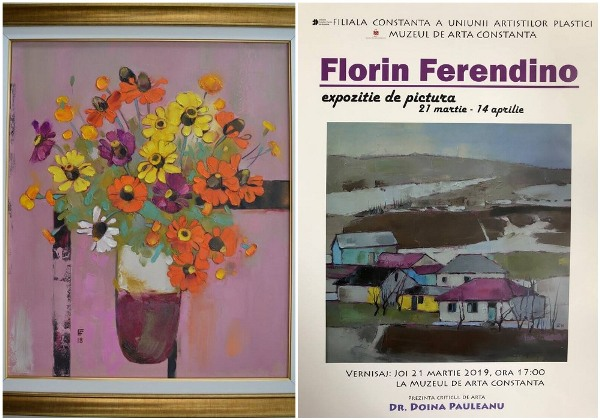 florin ferendino expozitie pictura afis
