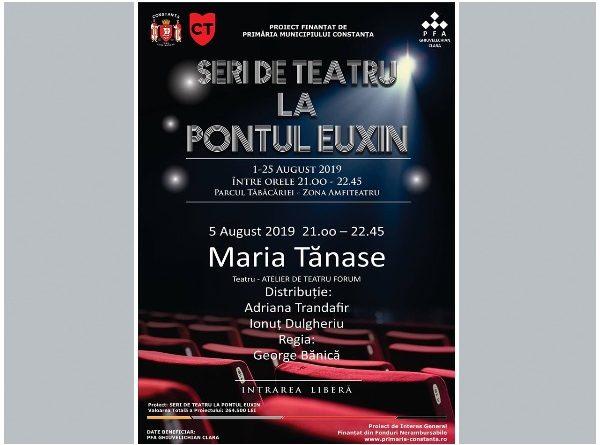 maria tanase afis Seri de teatru la Pontul Euxin
