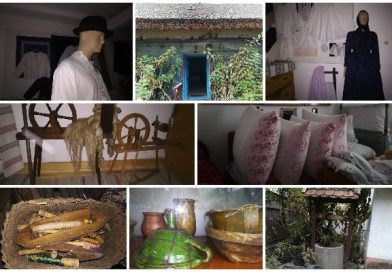 """Istoria slovacilor din Nădlac, păstrată într-o casă tradițională cu acoperiș de trestie și """"perdea"""" de napi"""