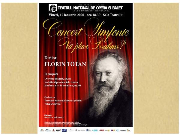 afis concertul va place brahms teatrul oleg danovski
