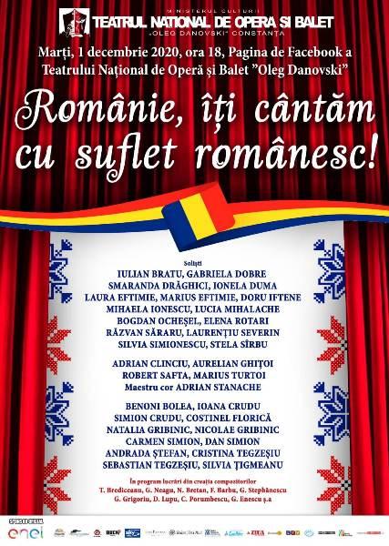 romanie, iti cantam cu suflet romanesc concert teatrul oleg danovski