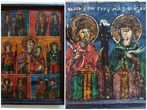 sfintii imparati constantin si elena icoana lemn muzeul de arta populara constanta